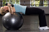 Stability Ball Dumbbell Fly