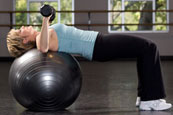 Stability Ball Dumbbell Press
