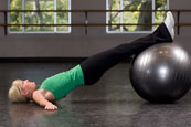 Stability Ball Glute Bridge