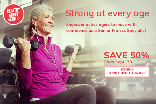Save 50% | ACE Senior Fitness Specialist