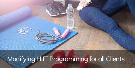 Modifying HIIT Programming for all Clients