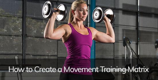 How to Create a Movement Training Matrix